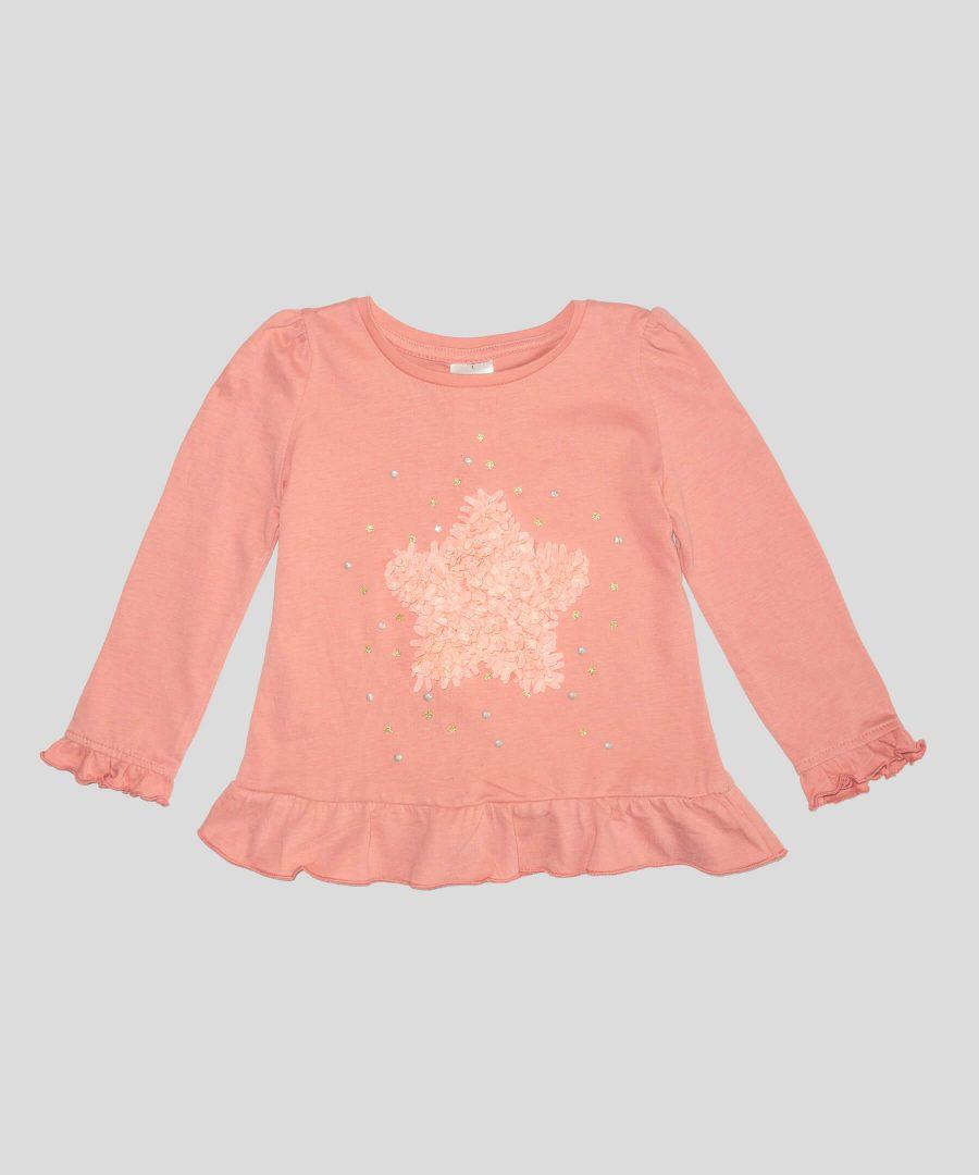 Блуза от био памук сапликация звезда за бебета и деца
