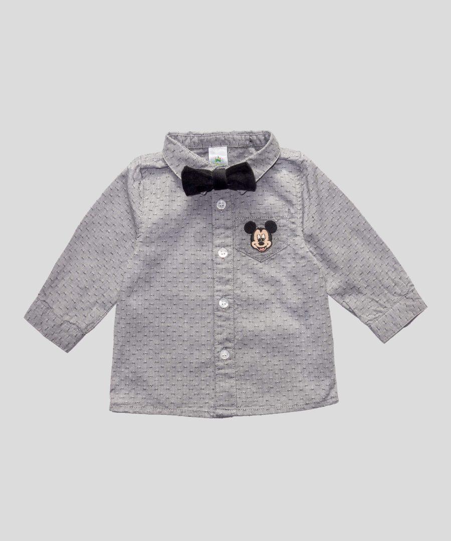 бебешка риза Мики Маус с папионка