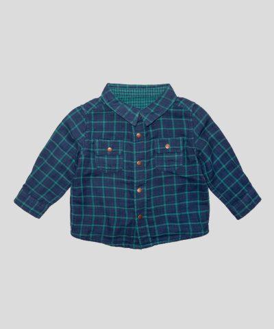 бебешка и детска двулицева карирана риза