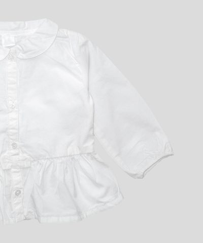 риза със заоблена яка за момиченца