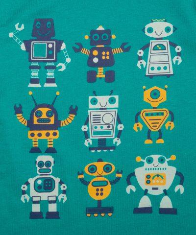 Детска пижама с роботчета за момче