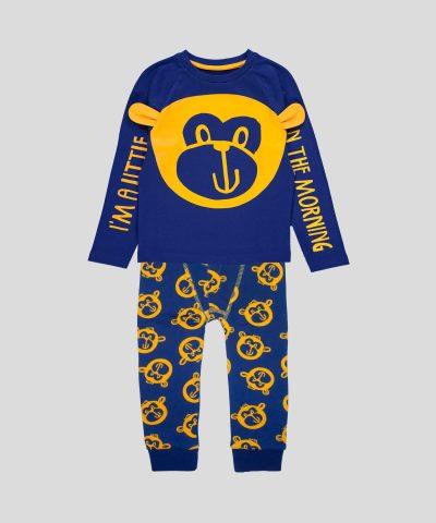 Пижама Little Monkey за момче от 100% памук