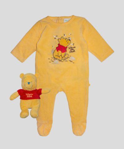бебешки и детски гащеризон от плюш с играчка мечо пух
