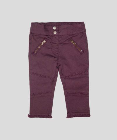 бебешки и детски панталон в цвят патладжан
