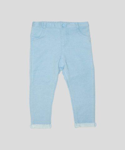 бебешки и детски еластични панталони в светлосин цвят