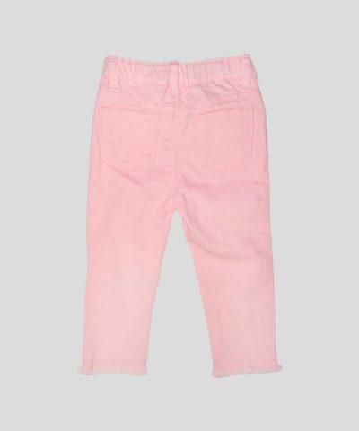 бебешки и детски дънков панталон в розов цвят за момиче