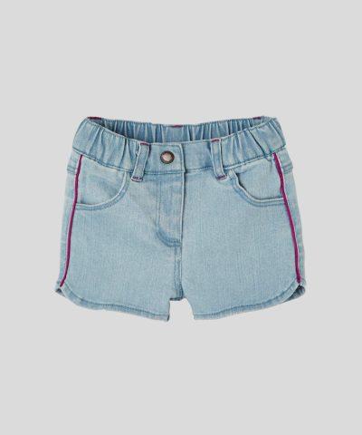 бебешки комплект тениска и дънкови панталонки за момиче