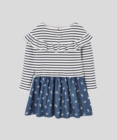 Детска рокля райе за момиче