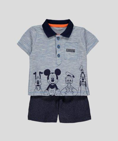бебешки и детски комплект от 2 части Мики и приятели за момче