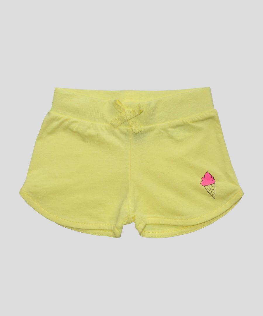 бебешки и детски къси панталонки в жълт цвят
