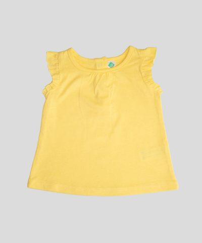 бебешки летен комплект с жълти цветя за момиче