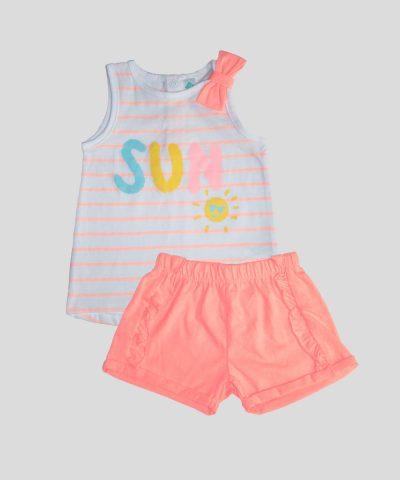 бебешки и детски летен комплект sun за момиче