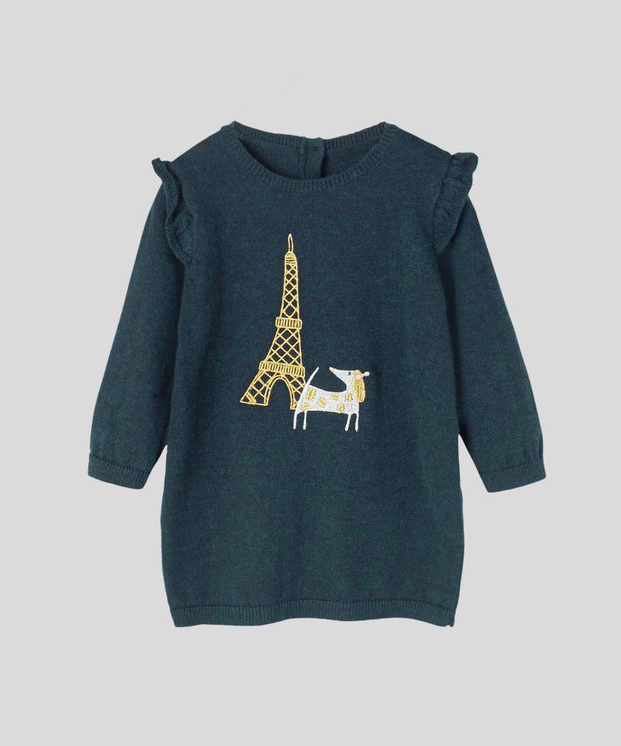 бебешка и детска Плетена рокля Париж