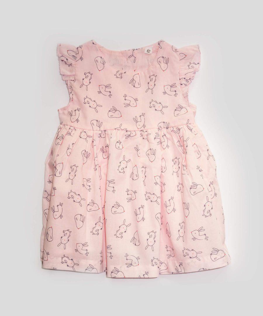 бебешка рокля със зайчета от 100% памук