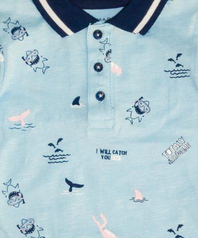 летен бебешки комплект с делфини за момче