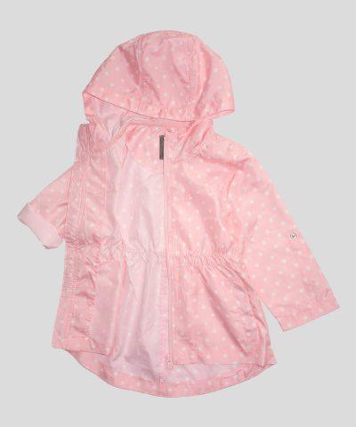 Бебешко и детско тънко яке в розов цвят за момиче