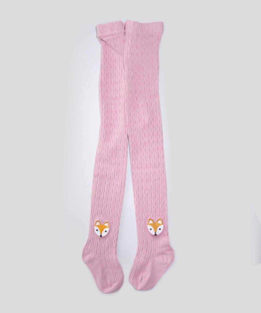 Розов чорапогащник с лисици за деца от 1 до 3 години