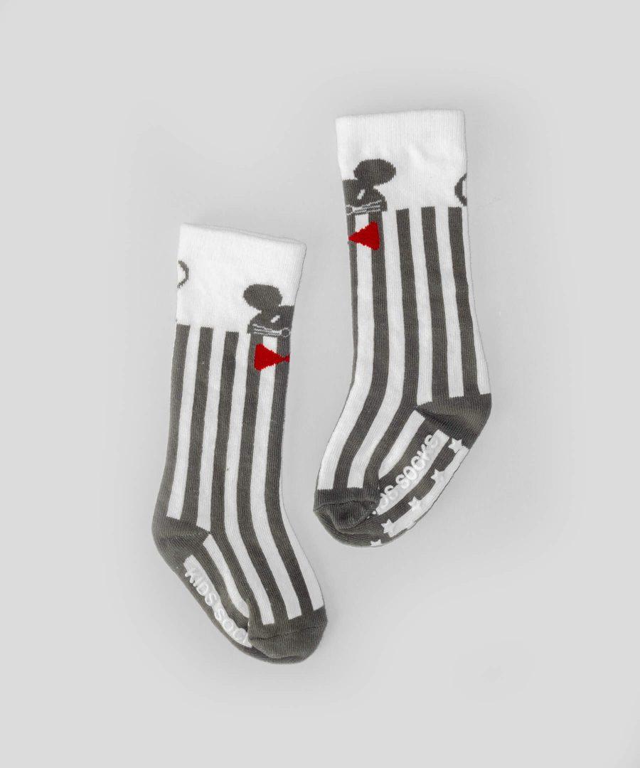 Високи чорапи райе с мишле за бебета и деца от 0 до 2 години