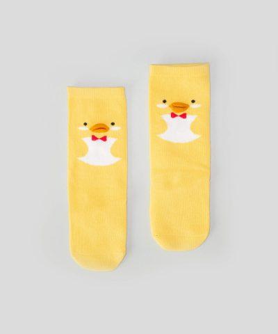 Високи чорапи с пате за бебета и деца от 0 до 3 години