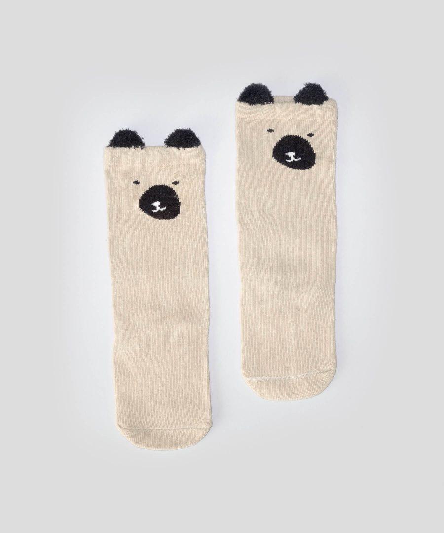 Високи чорапи с мече за бебета и деца от 0 до 3 години