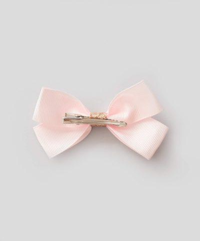 бебешка и детска шнола за коса с панделка в розов цвят