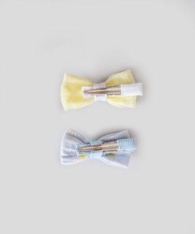 бебешки детски Комплект 2бр. шноли за коса - десен с цветя