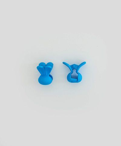 Бебешка и детска шнола за коса зайче в син цвят 2 бр. в комплект