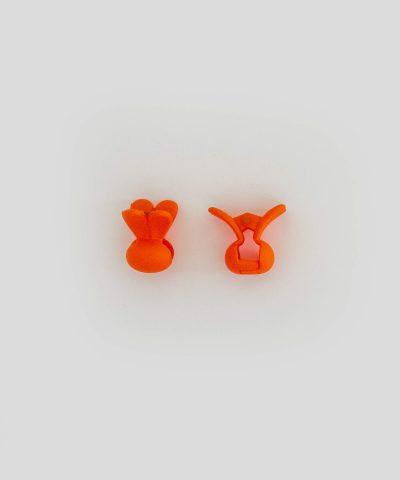 Бебешка и детска шнола за коса зайче в оранжев цвят 2 бр. в комплект