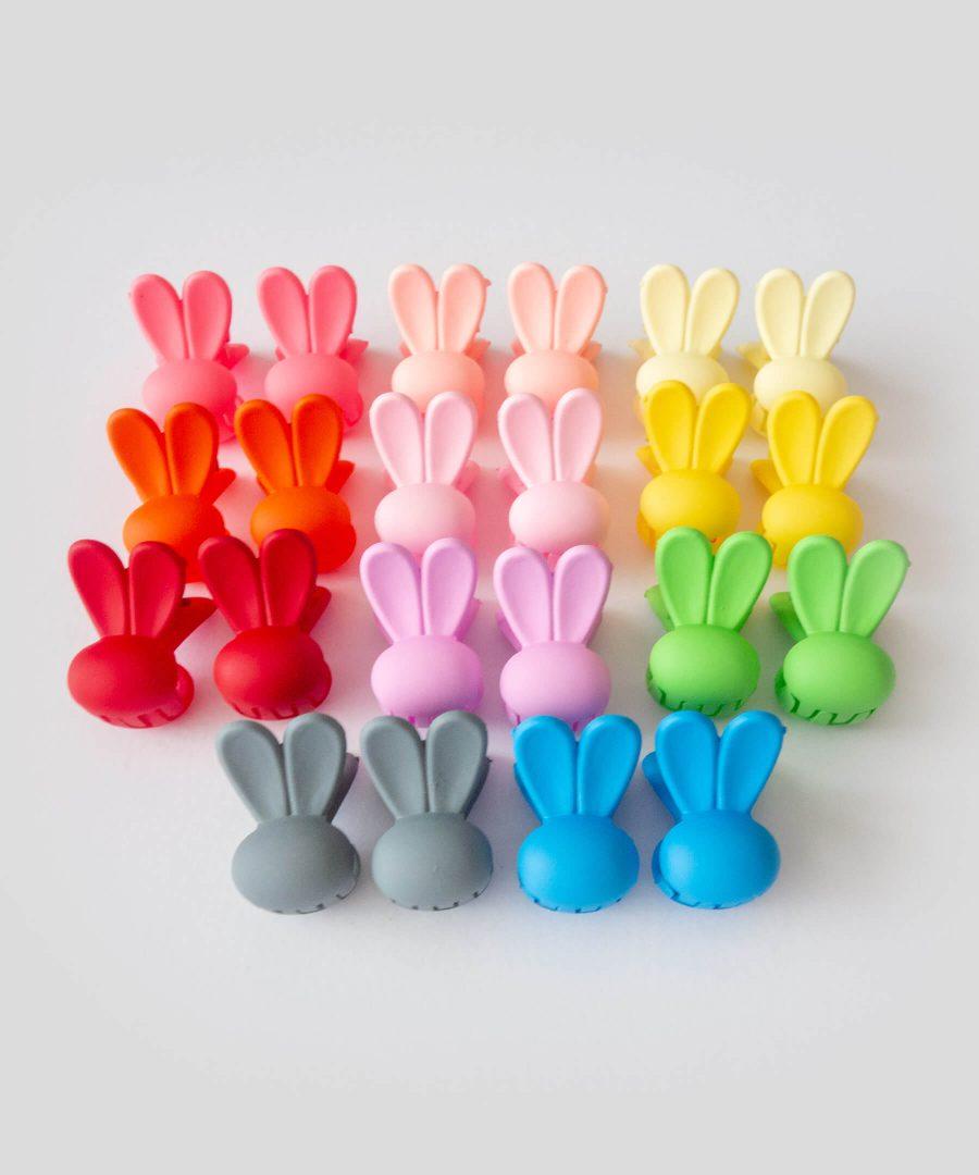 Бебешка и детска шнола за коса зайче 2 бр., в различни цветове