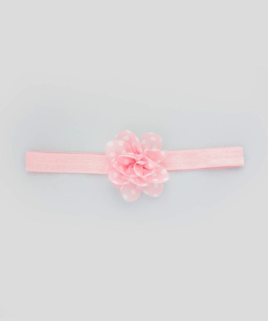 бебешка и детска лента за коса с цвете в розов цвят