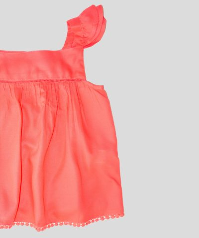 Детска туника в цвят корал