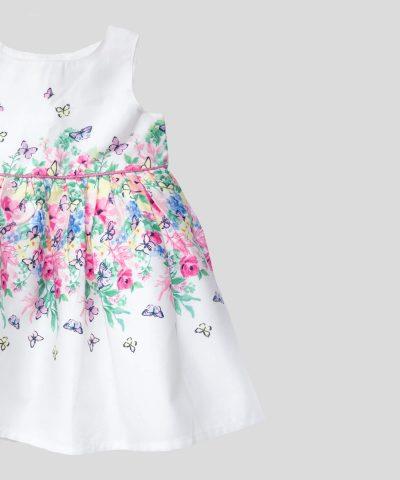 Бебешка и детска рокля с пеперуди за момиче