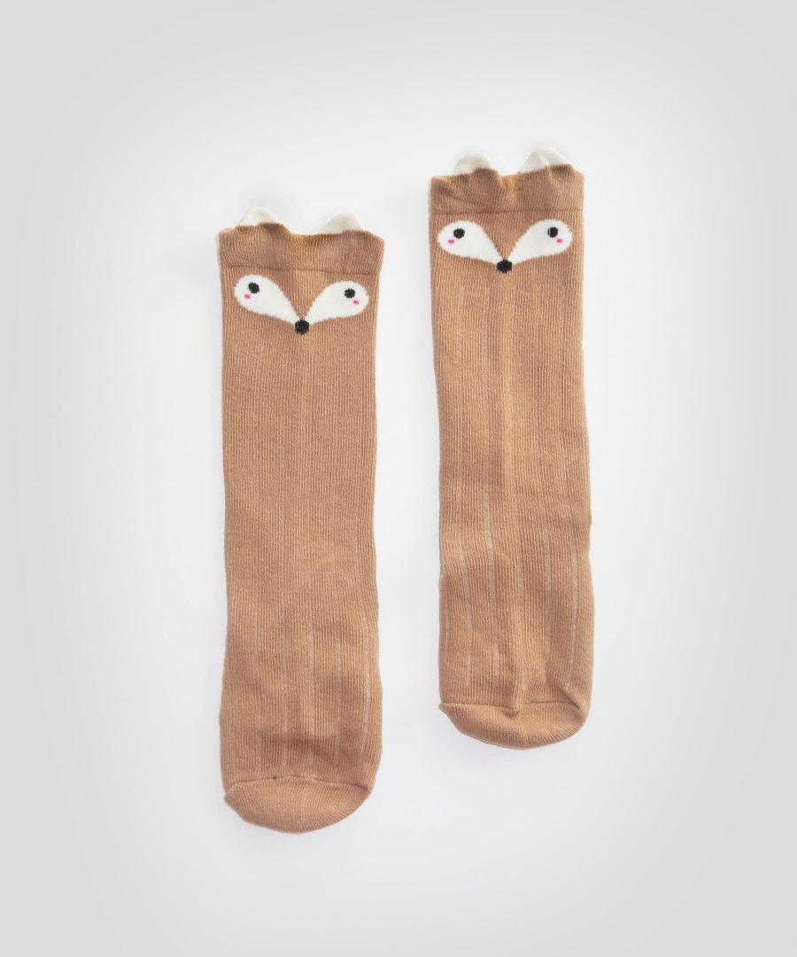 Бебешки и детски високи чорапи с лисици
