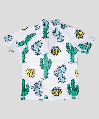 бебешка и детска блуза с кактуси и слънцезащита UPF 50+