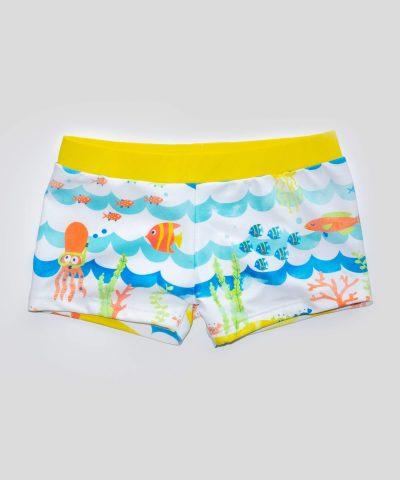 бебешки бански морско дъно за момче