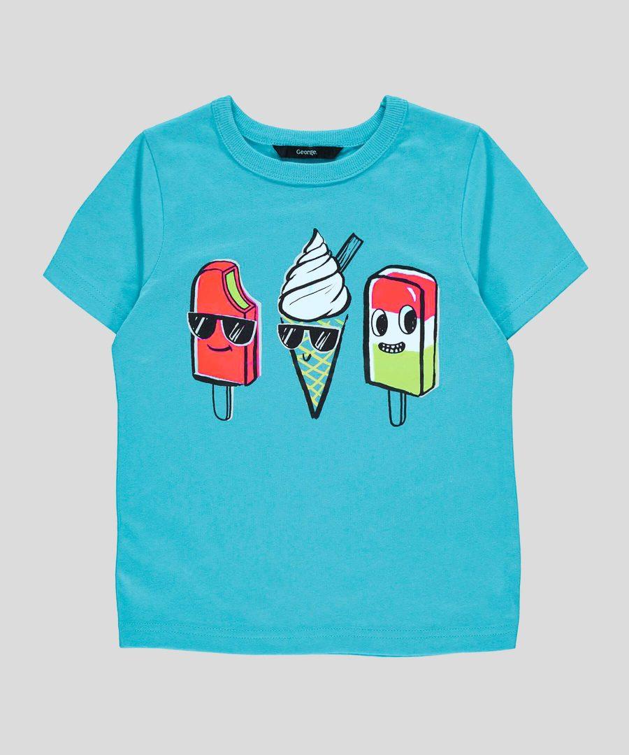 Детска тениска със сладоледи за деца от 1г. до 6г.
