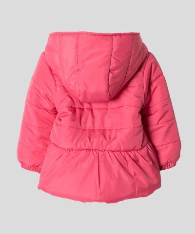 бебешко и детско яке с качулка в розов цвят за момиче