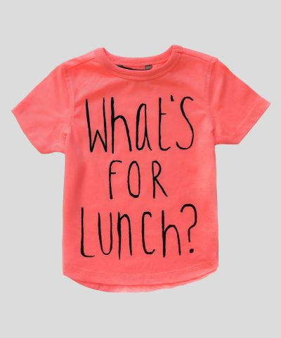 Детска тениска What's for lunch за момче