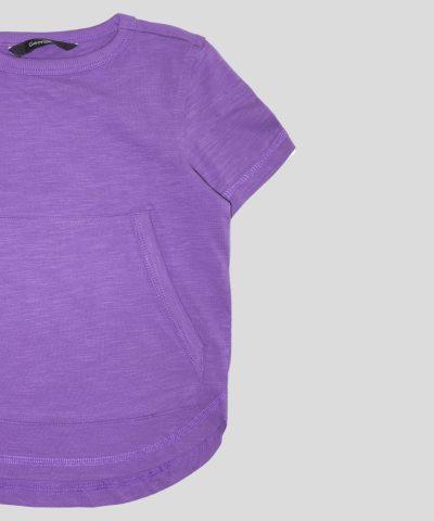 Детска тениска в лилав цвят за момче