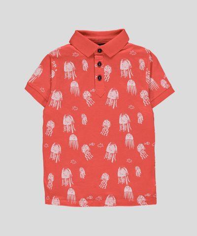 бебешка и детска тениска с яка и медузи за момче