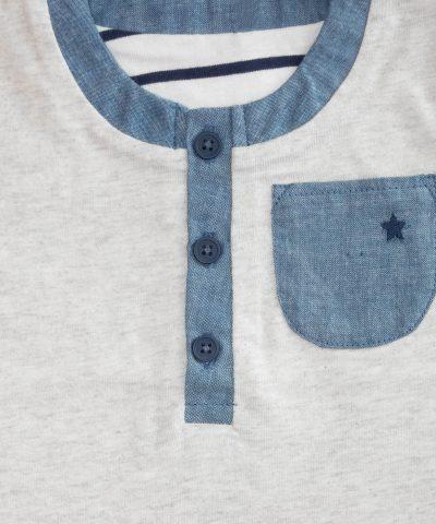 Бебешка блуза в сив цвят by Billie Faiers за момче