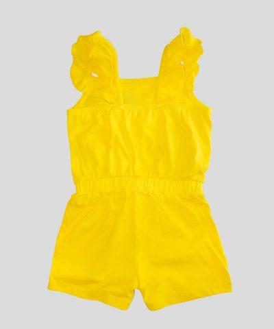 Детски гащеризон в жълт цвят за момиче