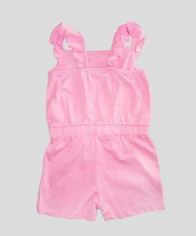 Детски гащеризон в розов цвят за момиче