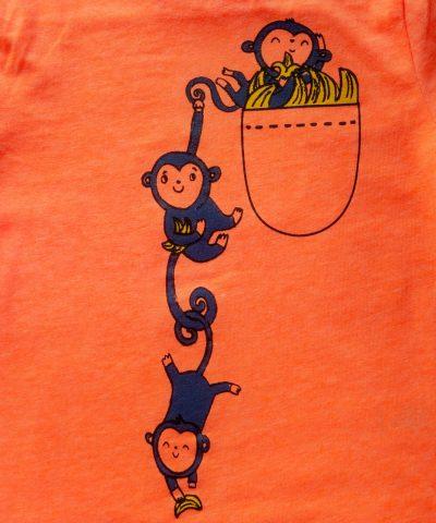 детска лятна пижама с маймунки за момче