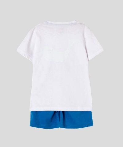 детски комплект с кит за момче, състоящ се от тениска и къси панталонки