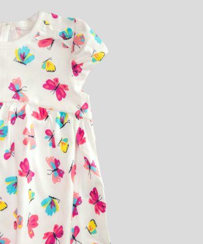 Памучна рокля с пеперуди за бебе