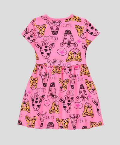 Детска памучна рокля сафари