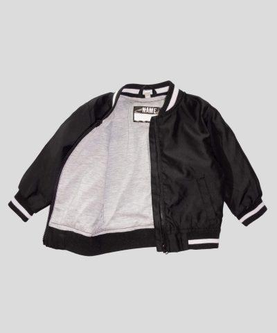 бебешко тънко водоустойчиво яке в черен цвят