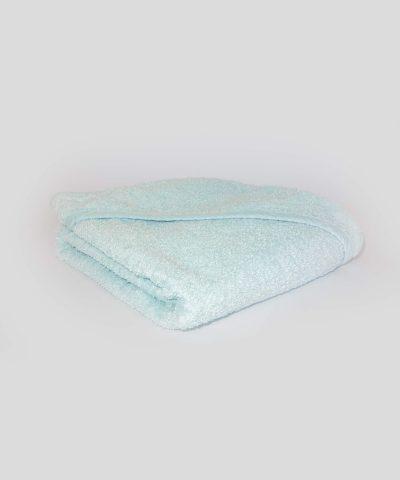 памучна хавлиена кърпа с качулка в цвят мента