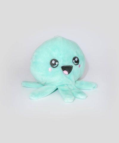 бебешка плюшена играчка октопод в цвят мента